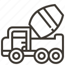 automobile, car, cement, service, transport, transportation, vehicle icon