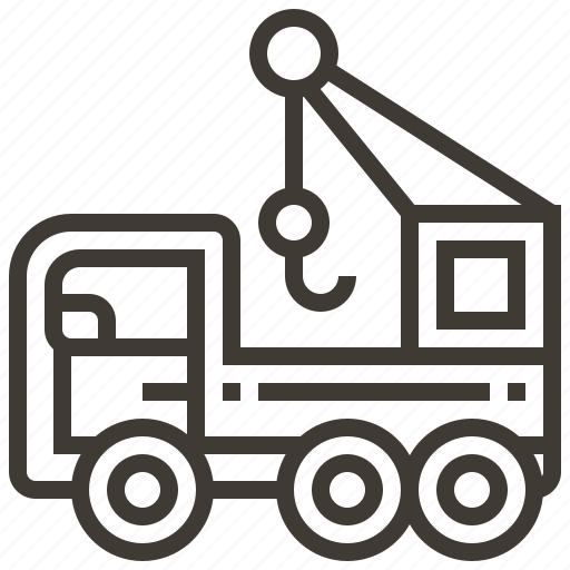 auto, automobile, car, crane, transport, transportation, vehicle icon