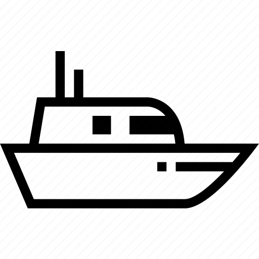Boat, ship, trawler icon - Download on Iconfinder