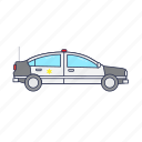 car, emergency, police, vehicle icon