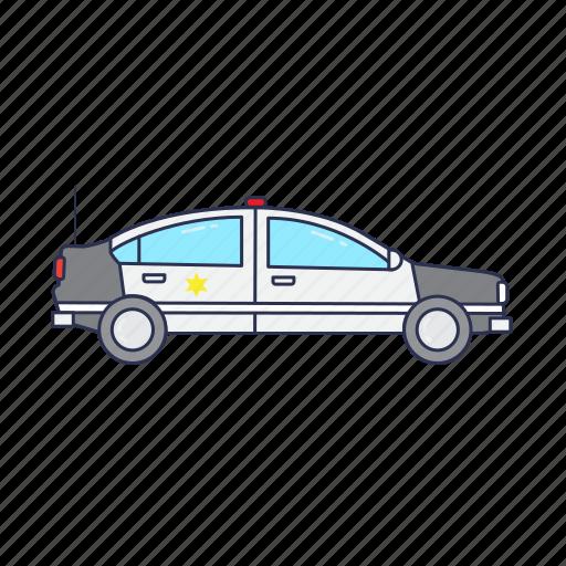 car, emergency, police, vehicle icon
