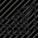 crane, construction, lifting, machinery