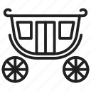 carriage, transport, vehicle, medieval