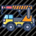 crane, truck