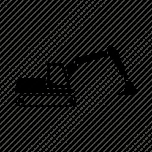 build, construction, excavator, vehicle icon