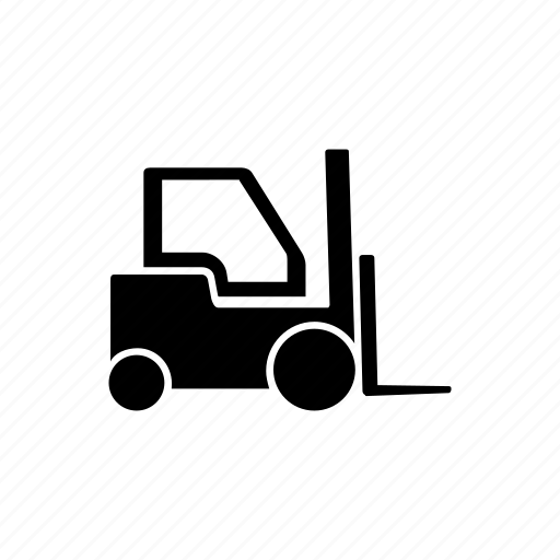 construction, delivery, forklift, vehicle icon
