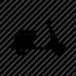 delivery, motorbyke, vehicle, vespa icon