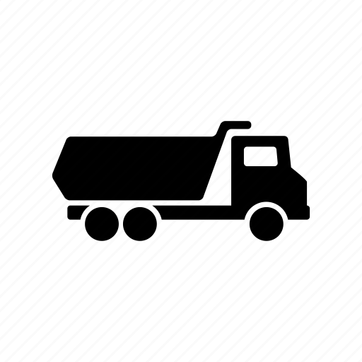 construction, dump, truck, vehicle icon