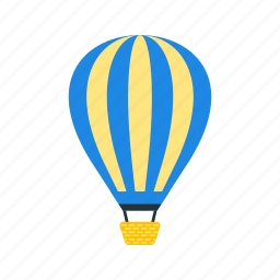 adventure, air, balloon, fun, hot, sky, travel icon