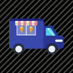cone, cream, ice, icecream, summer, truck, van icon