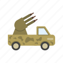 army, gun, military, missile, rocket, technology, war icon
