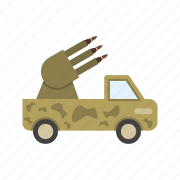 army, gun, military, missile, rocket, technology, war icon