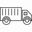 delivery, lorry, shipping, transport, truck, vehicle icon
