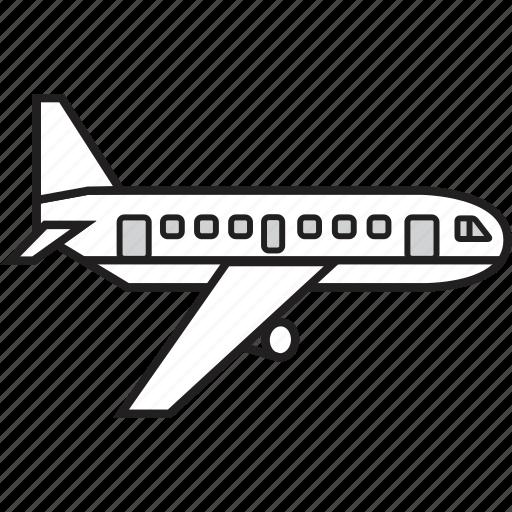 aeroplane, aircraft, airplane, flight, plane, transport, transportation icon