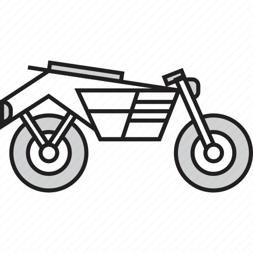 bike, motorcycle, scooter, transportation, two-wheeler icon