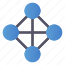 full, net, network, topology icon