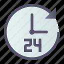 around, clock, day, night icon