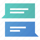 bubble, chat, correspondence, messages icon
