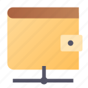 electronic, money, online, wallet icon