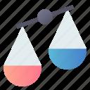 compare, disbalance, scales, trade icon