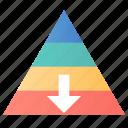 career, descent, management, pyramid icon