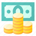 cash, coin, finance, money icon