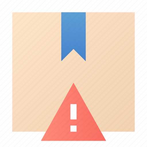 alert, box, package, product icon
