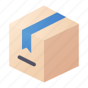 box, delivery, package, product icon