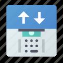 atm, cash, dispenser, machine icon