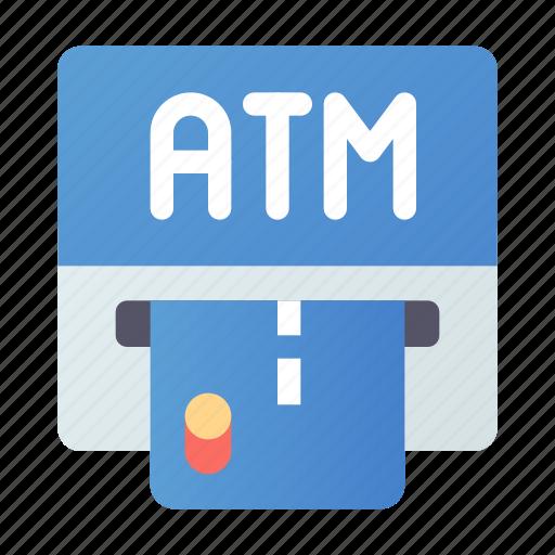 atm, card, dispenser, machine icon