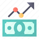 analytics, growth, money, rate icon
