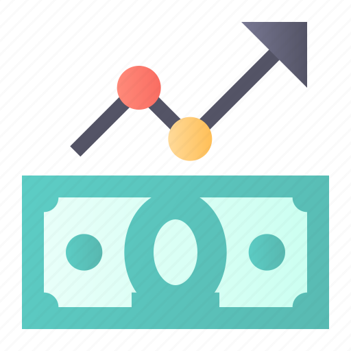 analytics, growth, money, rate icon
