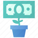 deposit, growth, money icon