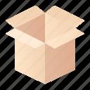 cardboard, carton, pap icon