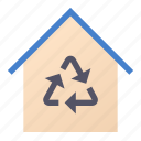 home, material, recycling icon