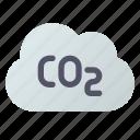 carbon, cloud, dioxide, exhaust icon