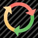 circulation, cycle icon