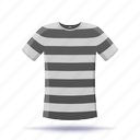 prison robe, shirt, stripes, t-shirt icon