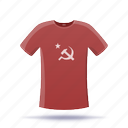 hammer and sickle, shirt, t-shirt icon