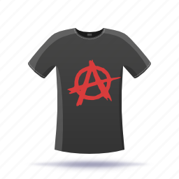 anarchy, shirt, t-shirt icon