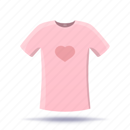 heart, shirt, t-shirt icon