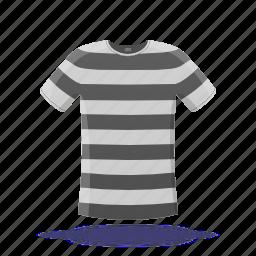 prison robe, shirt, stripes, t-shirt icon