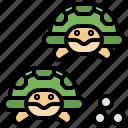 animal, animals, aquatic, sea, turtle icon