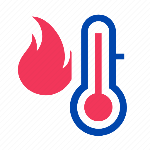 boil, danger, fever, fire, flame, hot, thermometer icon
