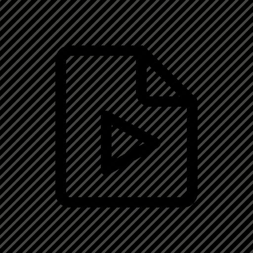 file, film, graphic, motion, movie, video icon