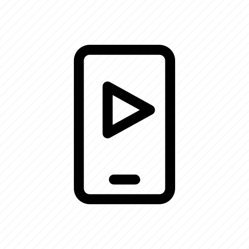 cellphone, graphic, mobile, motion, movie, play, video icon