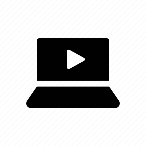 film, graphic, laptop, motion, movie, play, video icon
