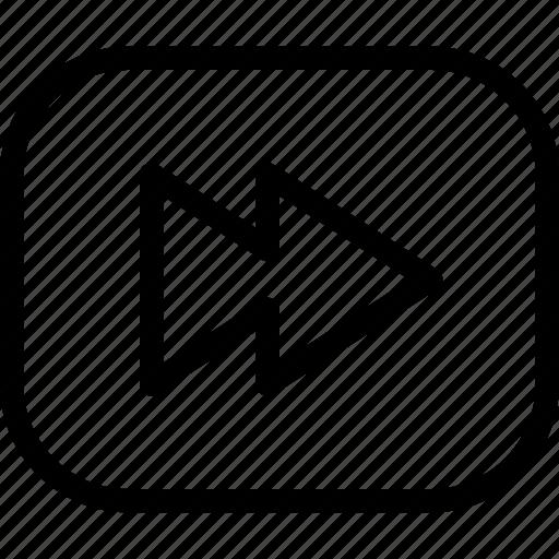 fast, forward, line-icon, next, video icon