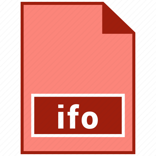 file format, ifo, video icon