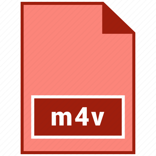file format, m4v, video icon